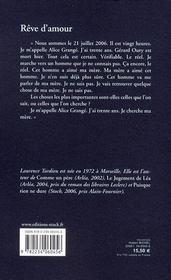 Rêve d'amour - 4ème de couverture - Format classique