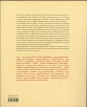 Architectures - 4ème de couverture - Format classique