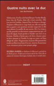 Les duchesses T.8 ; quatre nuits avec le duc - 4ème de couverture - Format classique