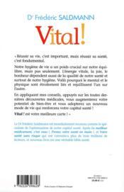 Vital ! - 4ème de couverture - Format classique