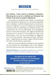 Les Gaulois - 4ème de couverture - Format classique