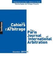 Les cahiers de l'arbitrage N.2019/4 - Couverture - Format classique