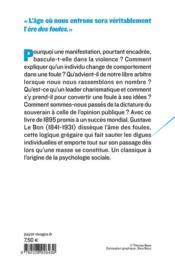 Psychologie des foules - 4ème de couverture - Format classique