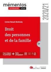 Droit des personnes et de la famille (édition 2020/2021) - Couverture - Format classique