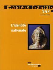 L'identité nationale - Intérieur - Format classique