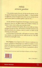 Albilla Servante Gauloise - 4ème de couverture - Format classique