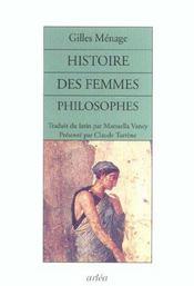 Histoire Des Femmes Philosophes De L'Antiquite - Intérieur - Format classique