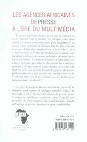 L'Etat De La Presse En Afrique, Rapport 2005 - 4ème de couverture - Format classique