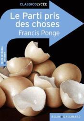 Le parti pris des choses, de Francis Ponge - Couverture - Format classique