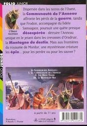 Le seigneur des anneaux t.2 ; les deux tours - 4ème de couverture - Format classique
