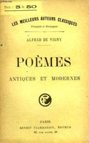 Poemes Antiques Et Modernes. - Couverture - Format classique