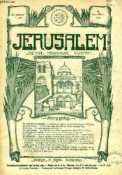 JERUSALEM, 26e ANNEE, N° 159, JAN.-FEV. 1931, REVUE MENSUELLE ILLUSTREE - Couverture - Format classique