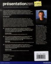 Présentation zen (2e édition) - 4ème de couverture - Format classique