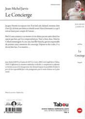 Le concierge - 4ème de couverture - Format classique