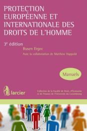 Protection européenne et internationale des droits de l'homme - Couverture - Format classique