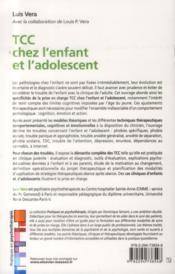 Tcc chez l'enfant et l'adolescent - 4ème de couverture - Format classique