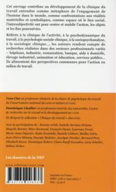 Perspectives en clinique du travail - 4ème de couverture - Format classique