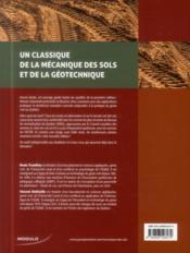 Mecanique des sols - 4ème de couverture - Format classique