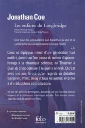 Les enfants de Longbridge - 4ème de couverture - Format classique