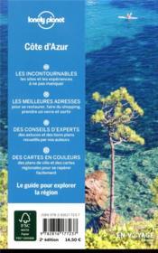 Explorer la région ; Côte d'Azur (2e édition) - 4ème de couverture - Format classique
