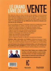 Le grand livre de la vente ; techniques et pratiques des professionnels de la vente (3e édition) - 4ème de couverture - Format classique
