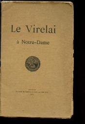 Le Virelai à Notre-Dame ou Deux moinillons en faute - Couverture - Format classique