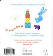 Les bébimagiers ; le pot - 4ème de couverture - Format classique