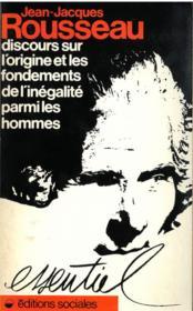 Discours sur l'origine et les fondements de l'inegalite parmi les hommes - Couverture - Format classique