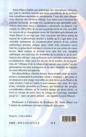 Anthologie runique - 4ème de couverture - Format classique