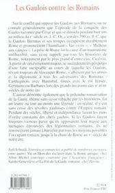 Les gaulois contre les romains la guerre de 1000 ans - 4ème de couverture - Format classique