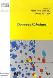 Donnees Urbaines T.5 - Intérieur - Format classique