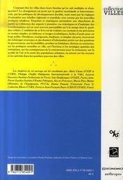 Donnees Urbaines T.5 - 4ème de couverture - Format classique
