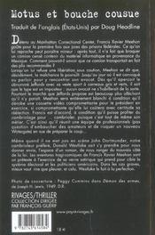 Motus Et Bouche Cousue - 4ème de couverture - Format classique