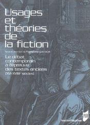 Usages Et Theories De La Fiction - Intérieur - Format classique