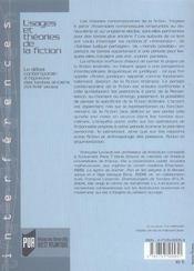 Usages Et Theories De La Fiction - 4ème de couverture - Format classique