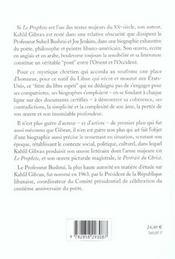 Khalil Gibran ; L'Homme Et Le Poete - 4ème de couverture - Format classique