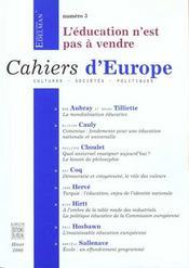 Cahiers D'Europe N.4 - Intérieur - Format classique