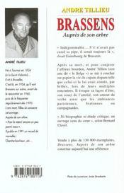 Brassens Aupres De Son Arbre - 4ème de couverture - Format classique