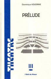 Prélude - Intérieur - Format classique