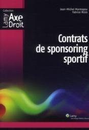 Contrats de sponsoring sportif - Couverture - Format classique