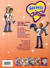Secrets de girlz t.4 ; les garçons de A à Z - 4ème de couverture - Format classique