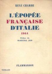 L'épopée française d'italie 1944 - Couverture - Format classique