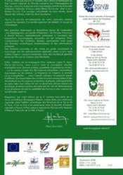 Revue Scientifique Bourgogne-Nature N.2 ; Les Champignons En Morvan ; Toxicologie ; Ecologie - 4ème de couverture - Format classique