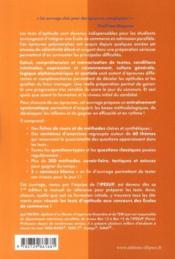 Réussir les tests aux concours Passerelle 1&2 et Tremplin 1&2 (2e édition) - 4ème de couverture - Format classique