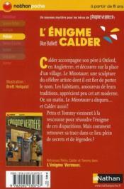 L'énigme Calder - 4ème de couverture - Format classique