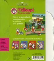 Autocollants T'choupi ; les petites bêtes - 4ème de couverture - Format classique