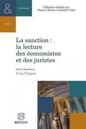 La sanction ; la lecture des économistes et des juristes - Couverture - Format classique