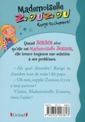 Mademoiselle Zouzou t.1 ; range ta chambre ! - 4ème de couverture - Format classique