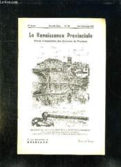 La Renaissance Provinciale N° 102 Mai Juin Juillet 1953. La Dordogne Et Le Faubourg De La Madeleine A Bergerac. - Couverture - Format classique