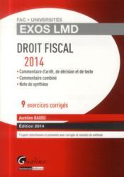 Droit fiscal (édition 2014) - Couverture - Format classique